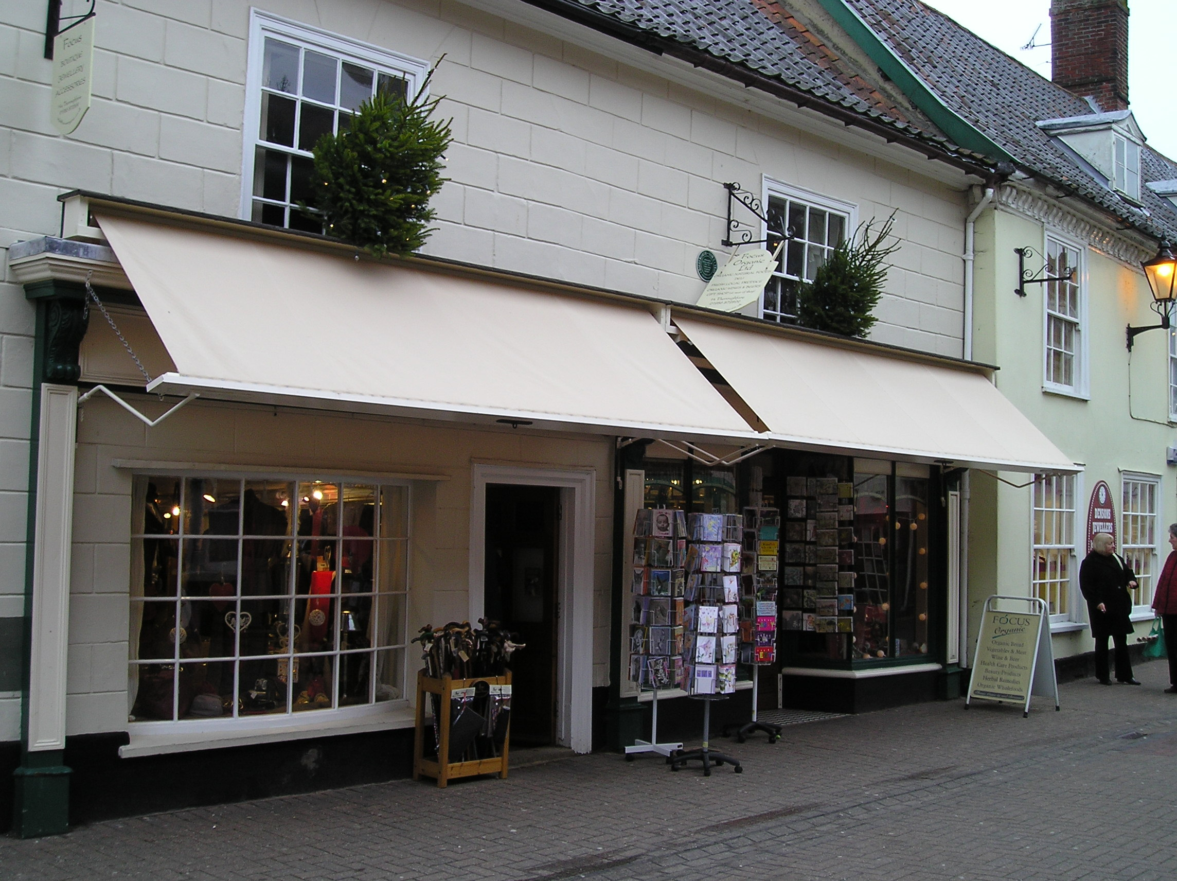Awnings Including Shop Front Folding Arm And
