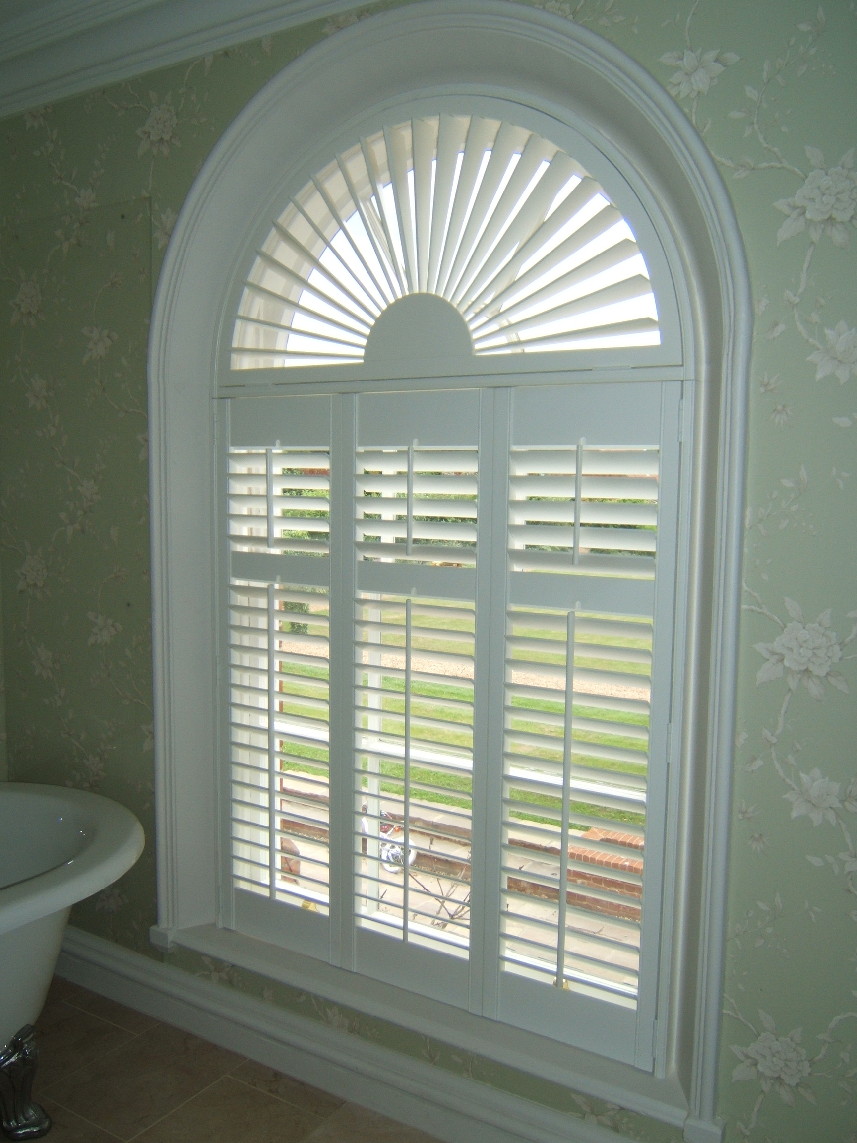 Shutters for windows 2017 grasscloth wallpaper for Window treatment for oval window